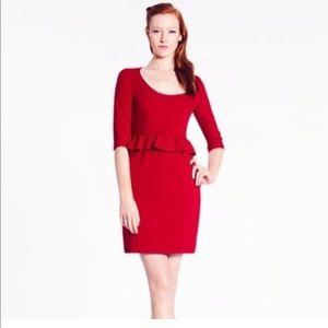 NWT Kate Spade Red Mary Peplum Dress Sz 6 ✨